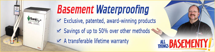 Basement Waterproofing in ON, including Burlington, Kitchener & Hamilton.